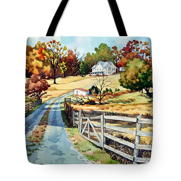 The Road To The Horse Farm Tote Bag