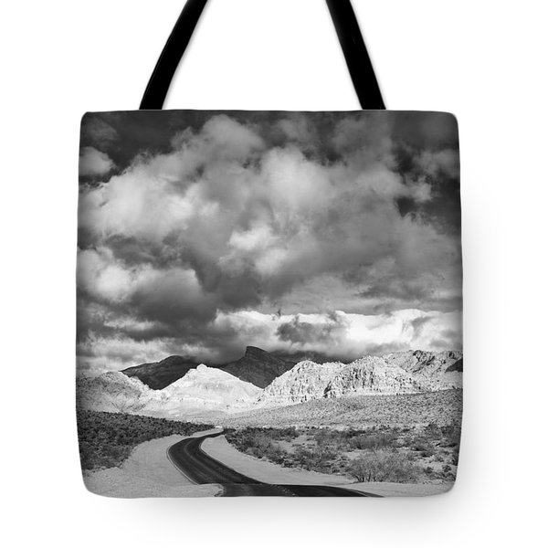 The Road To Turtlehead Peak Las Vegas Strip Nevada Red Rock Canyon Mojave Desert Tote Bag by Silvio Ligutti