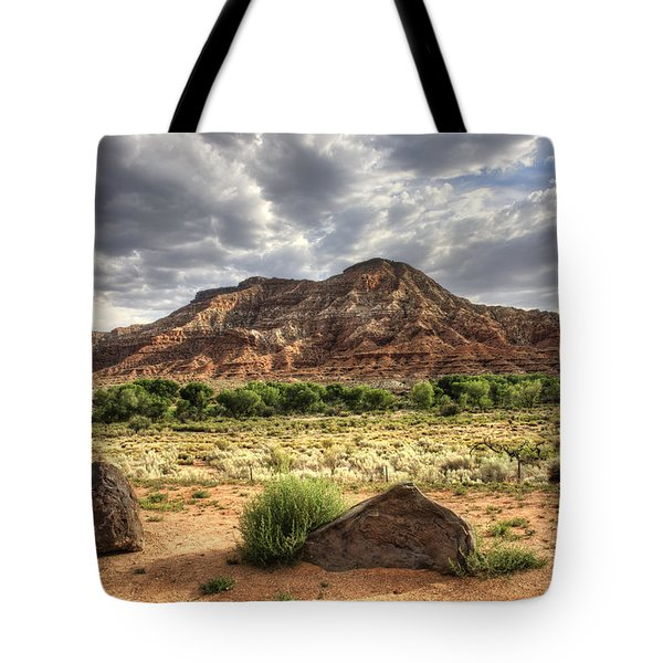 Tote Bag featuring the photograph The Road To Zion by Tammy Wetzel