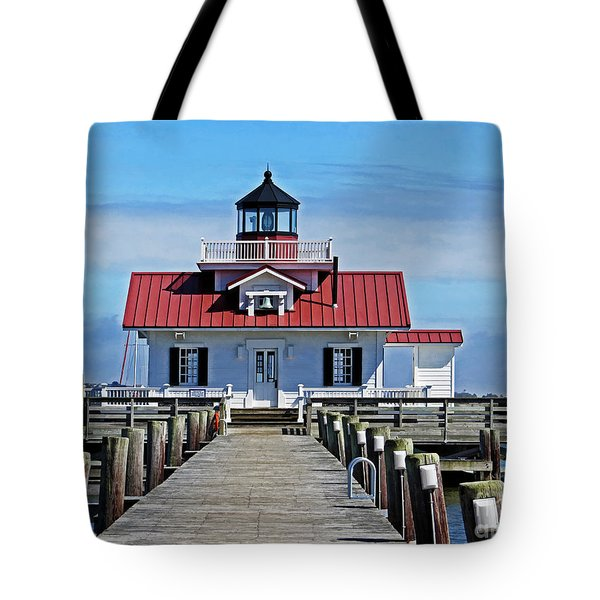 The Roanoke Marshes Lighthouse  Tote Bag