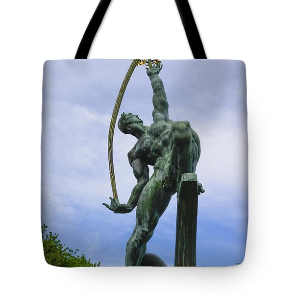 The Rocket Thrower Tote Bag