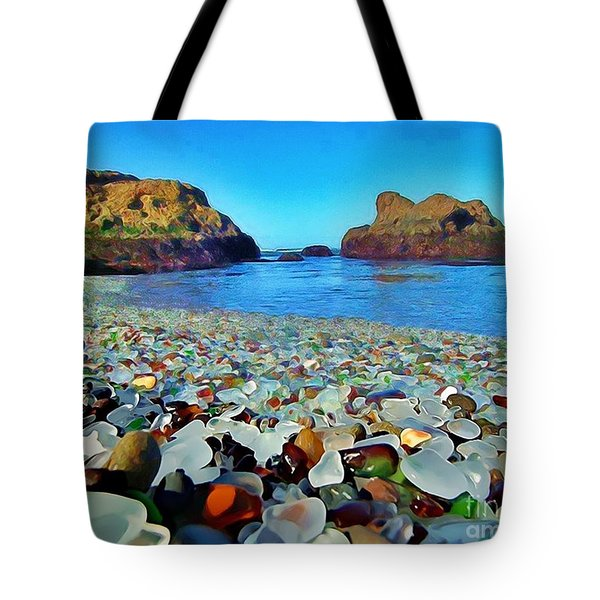 Glass Beach In Cali Tote Bag