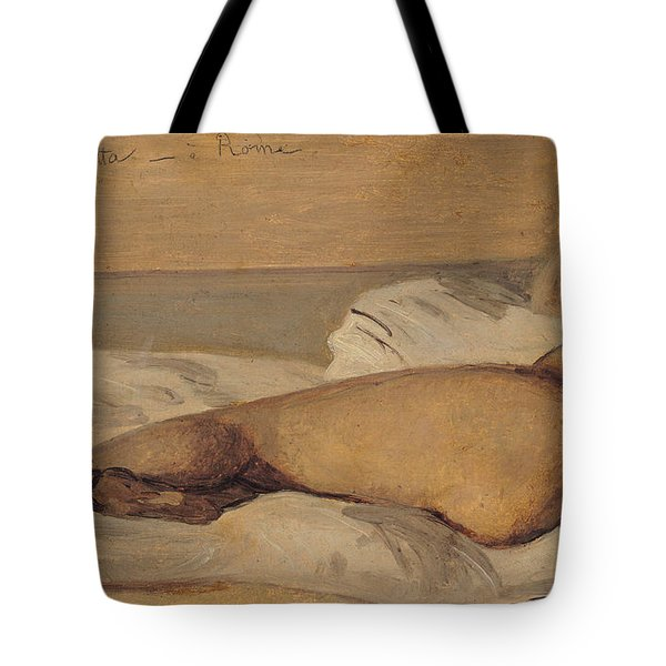 The Roman Odalisque Tote Bag by Jean Baptiste Camille Corot