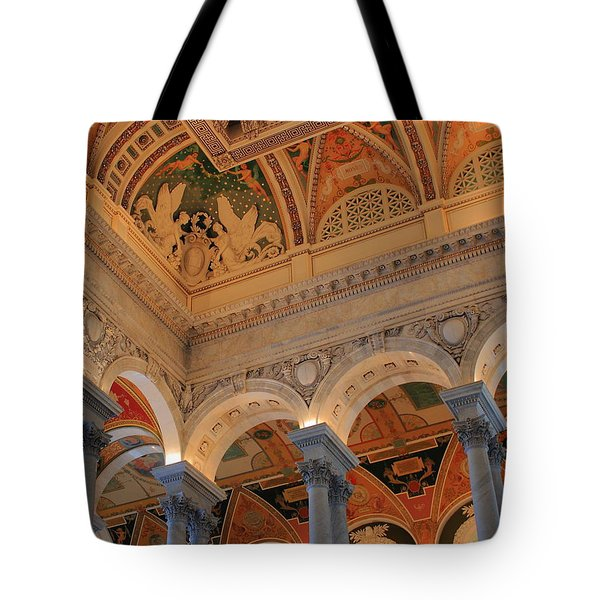 The Roof Above Jefferson's Books  Tote Bag