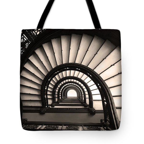 The Rookery Staircase In Sepia Tone Tote Bag