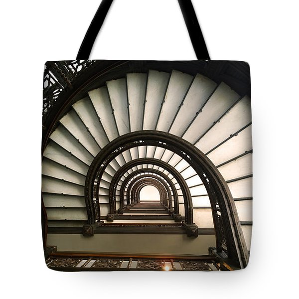 The Rookery Staircase Lasalle St Chicago Illinois Tote Bag