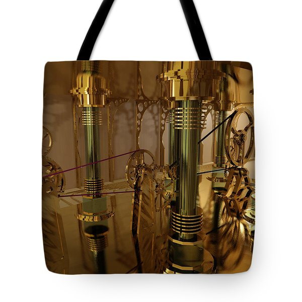 The Room Of Gears Tote Bag by James Christopher Hill