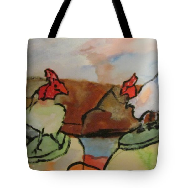 The Roosters Tote Bag by Shea Holliman