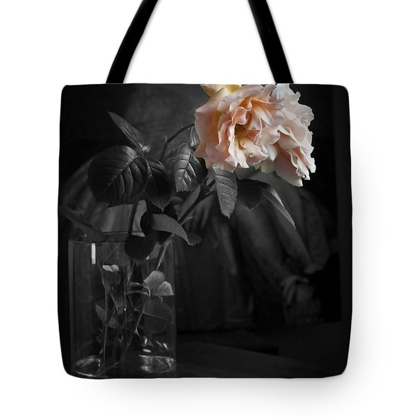 The Rose Grew Pale And Left Her Cheek Tote Bag by Theresa Tahara