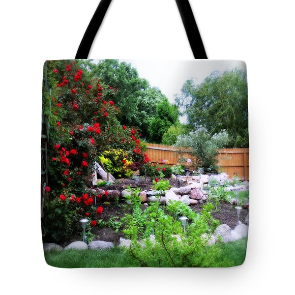 The Roses Are Blooming Tote Bag by Kay Novy
