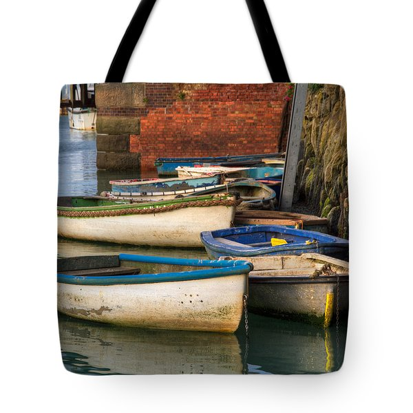 The Rowboats Of Folkestone Tote Bag by Tim Stanley