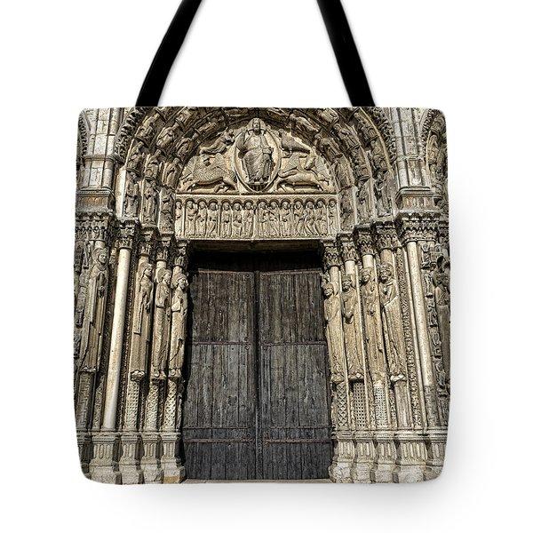 The Royal Portal At Chartres Tote Bag