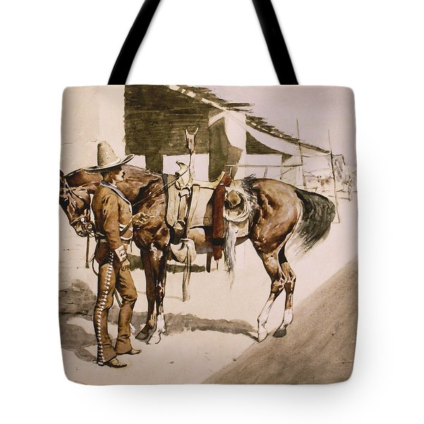 The Rural Guard Mexico Tote Bag by Frederic Remington