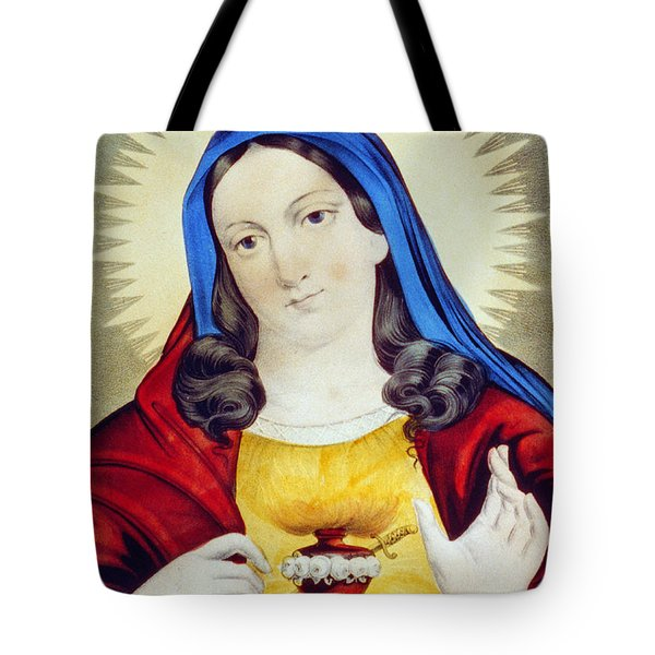 The Sacred Heart Of Mary Tote Bag by Bill Cannon