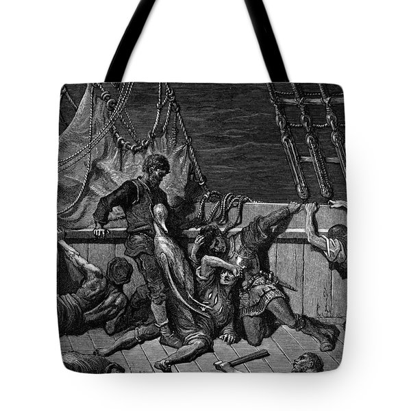 The Sailors Curse The Mariner Forced To Wear The Dead Albatross Around His Neck Tote Bag