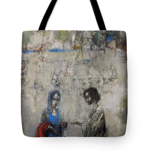 The Samaritan Woman At The Well Tote Bag