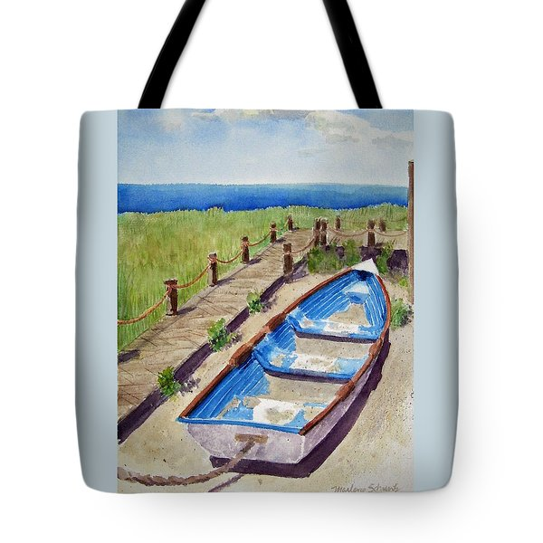 The Sandy Boat Tote Bag