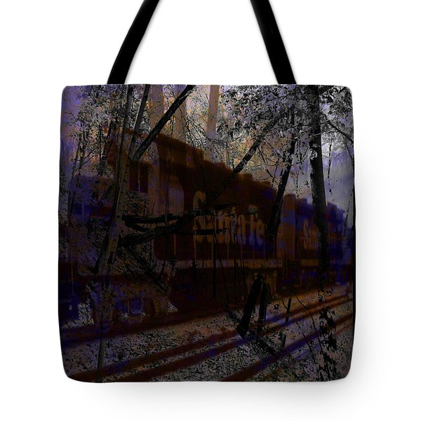Tote Bag featuring the digital art The Santa Fe by Cathy Anderson