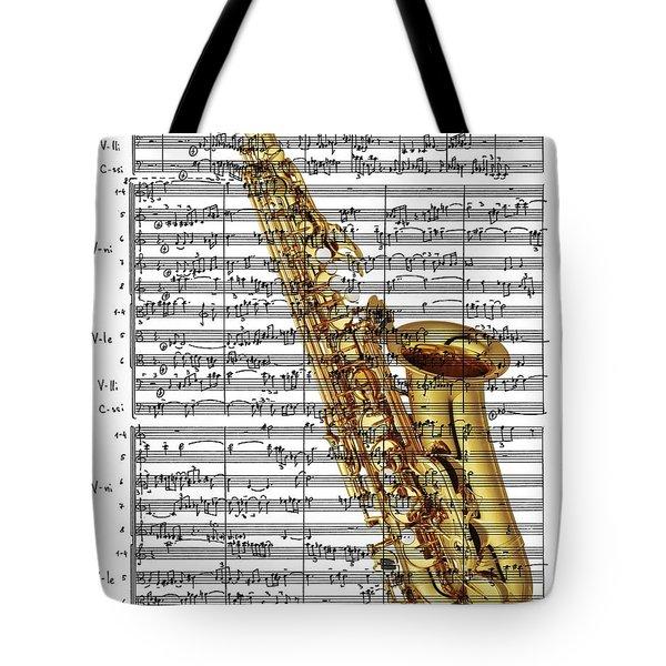 The Saxophone Tote Bag