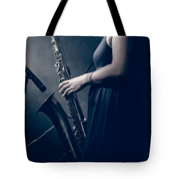 The Saxophonist Sounds In The Night Tote Bag