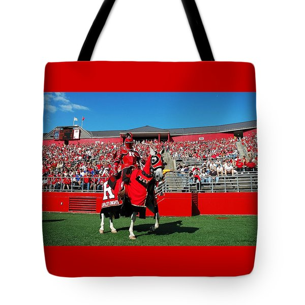 The Scarlet Knight And His Noble Steed Tote Bag by Allen Beatty