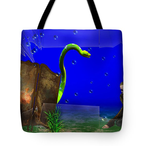 Tote Bag featuring the digital art The Scent Of The Girl  by Liane Wright