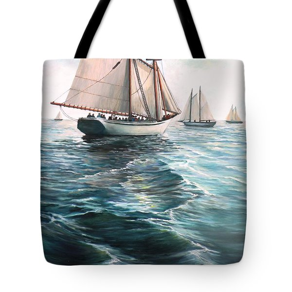 The Schooners Tote Bag by Eileen Patten Oliver