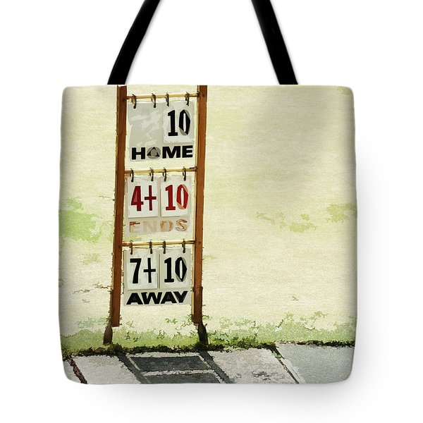 The Score Board Tote Bag by Steve Taylor