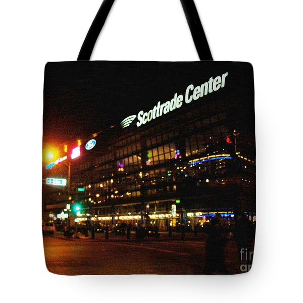 Tote Bag featuring the photograph The Scott Trade Center by Kelly Awad