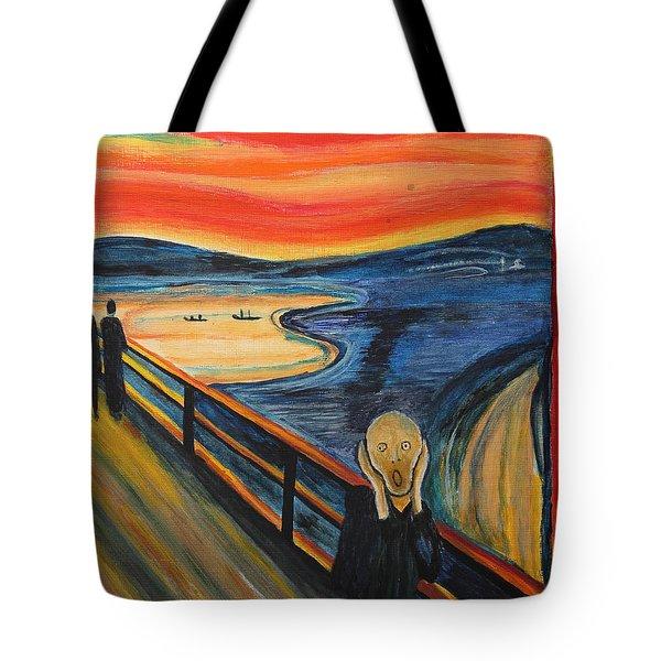 The Scream Tote Bag by Nirdesha Munasinghe