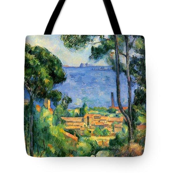 The Sea At The Estaque Tote Bag by Paul Cezanne