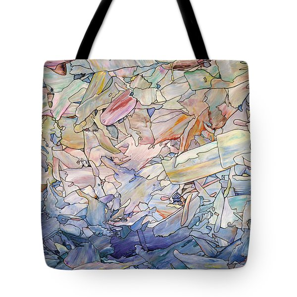 Fragmented Sea Tote Bag by James W Johnson