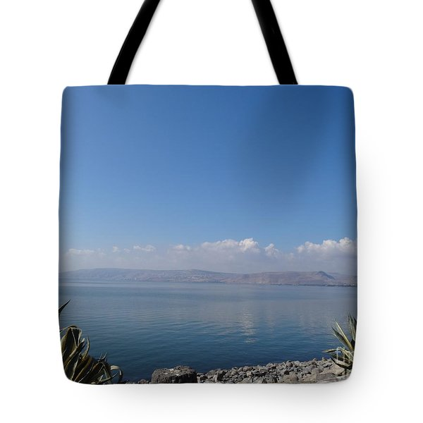 The Sea Of Galilee At Capernaum Tote Bag