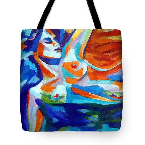 The Sea Of Life Tote Bag by Helena Wierzbicki