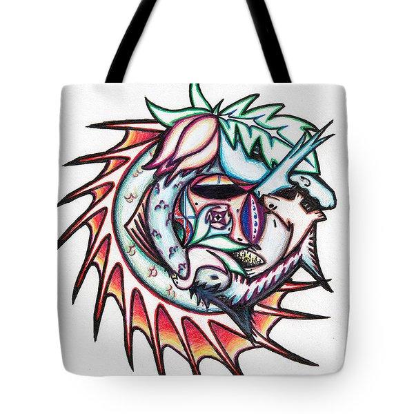 The Seahorse Mosaic Tote Bag