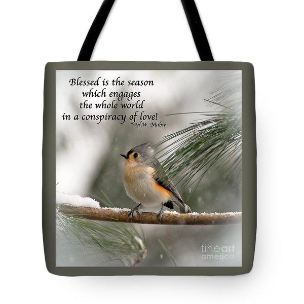 The Season Of Love  Tote Bag