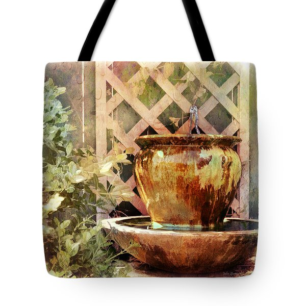 The Secret Fountain Tote Bag