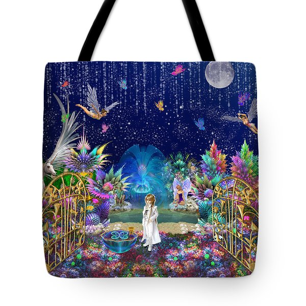 The Secret Garden Tote Bag by Peggi Wolfe