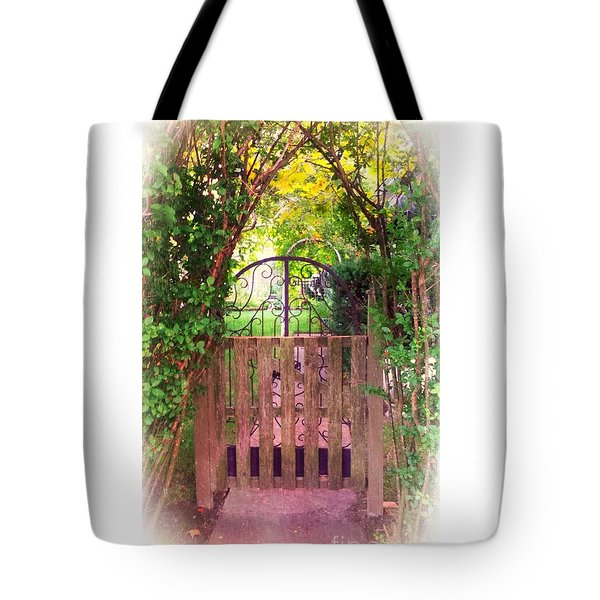The Secret Gardens Gate Tote Bag