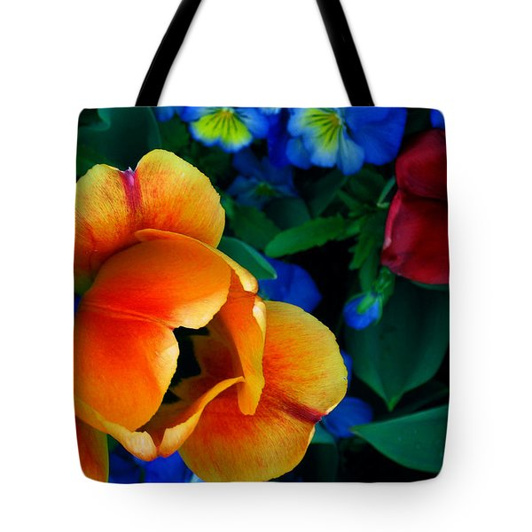 The Secret Life Of Tulips Tote Bag by Rory Sagner