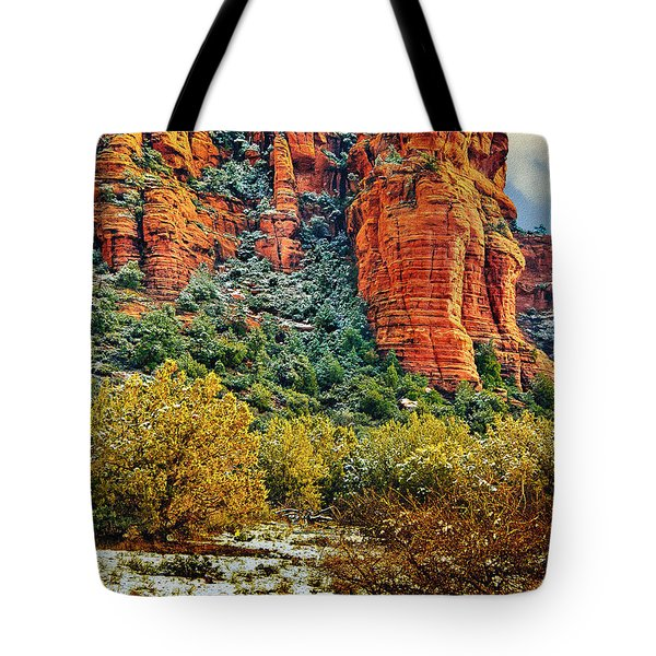 Tote Bag featuring the photograph The Secret Mountain Wilderness In Sedona Back Country by Bob and Nadine Johnston