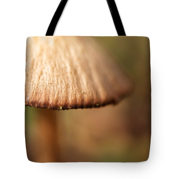 The Secret World Of Shroooms Tote Bag by Lois Bryan