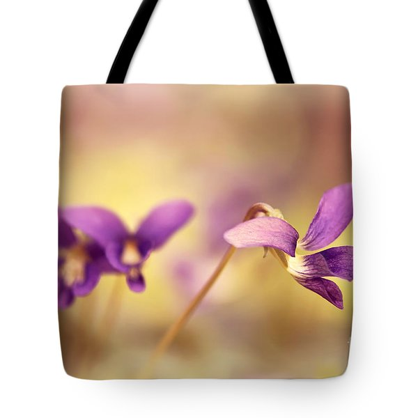 The Secret World Of Wild Violets Tote Bag by Lois Bryan