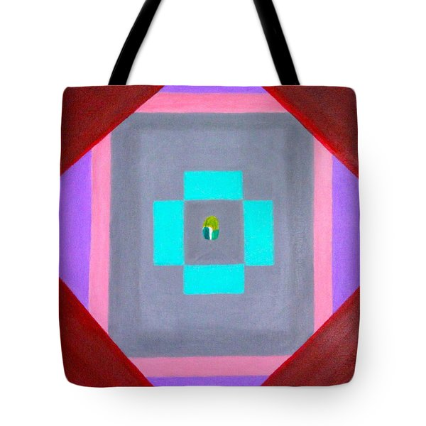 Tote Bag featuring the painting The Seed by Lorna Maza