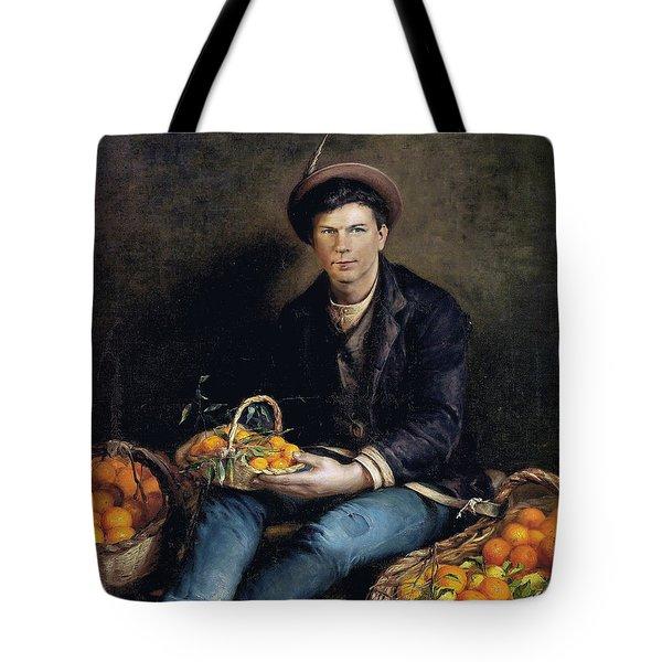 The Seller Of Oranges Tote Bag