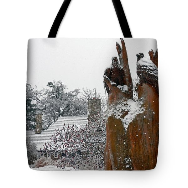 The Sentinels Tote Bag by Pema Hou