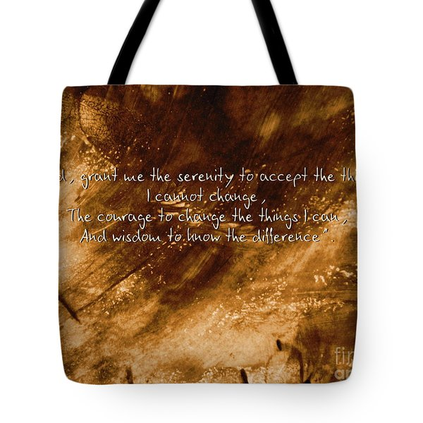 The Serenity Prayer 1 Tote Bag by Andrea Anderegg