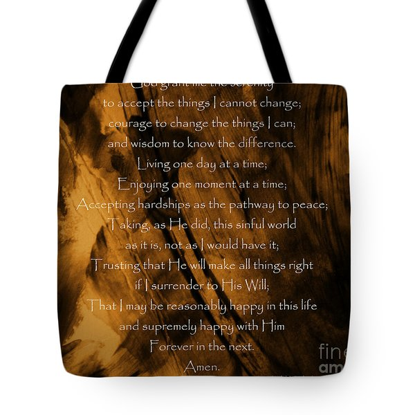 The Serenity Prayer Tote Bag
