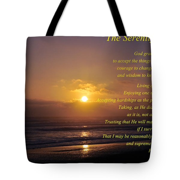 The Serenity Prayer Tote Bag by Tikvah's Hope