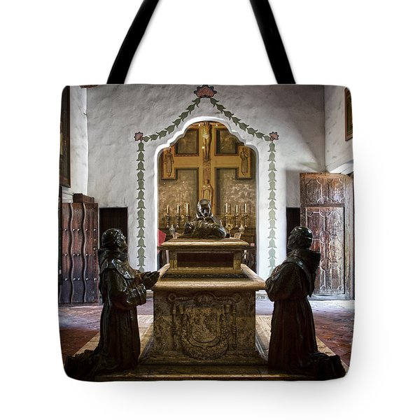 The Serra Cenotaph In Carmel Mission Tote Bag